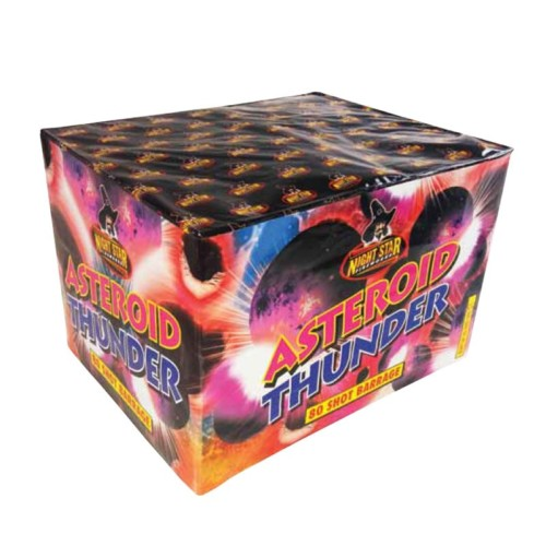 Asteroid Thunder multi-shot fireworks