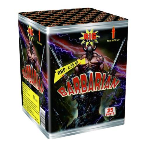 Barbarian cake fireworks