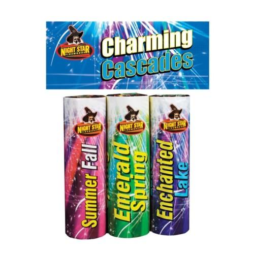 Charming Cascades Fountain fireworks