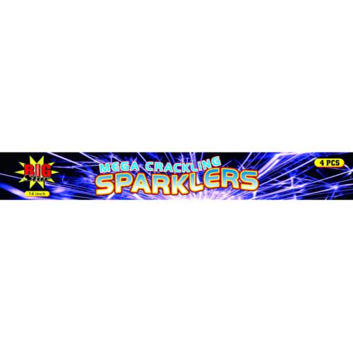 14 inch mega crackling sparklers fireworks