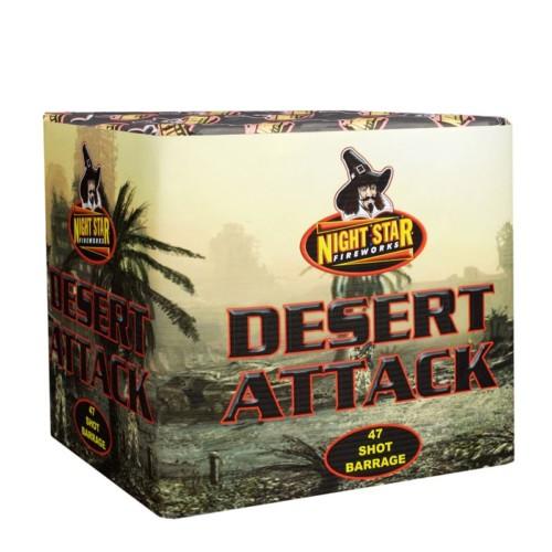 Desert Attack cake fireworks