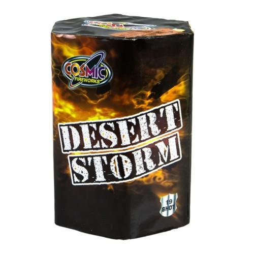 Desert Storm cake fireworks