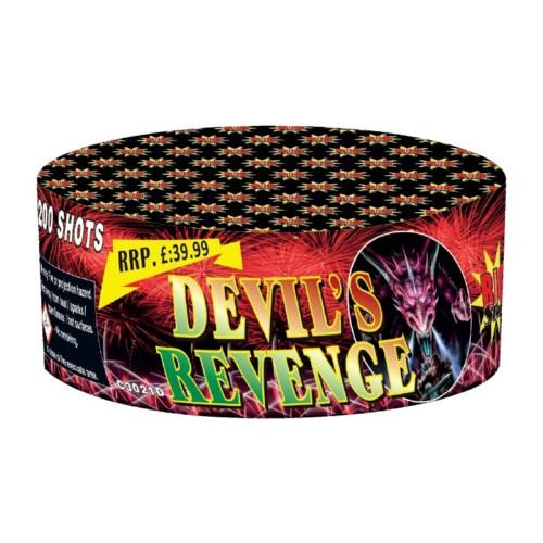 Devils Revenge cake fireworks