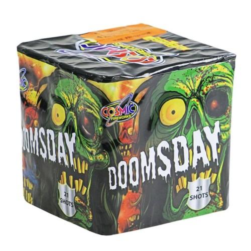 Doomsday fireworks barrage cake