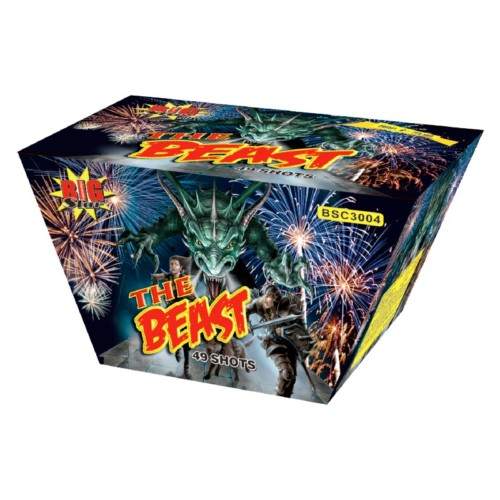 The Beast cake fireworks