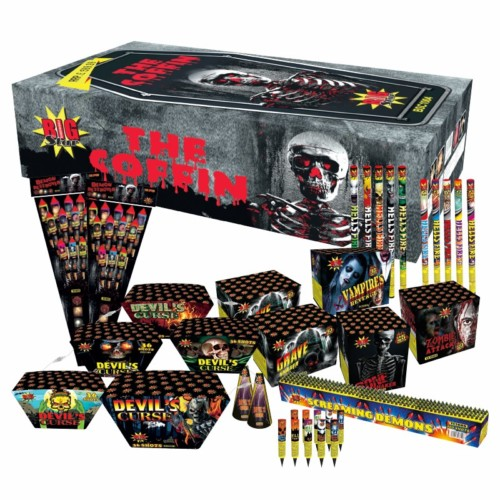 The Coffin fireworkd selection box