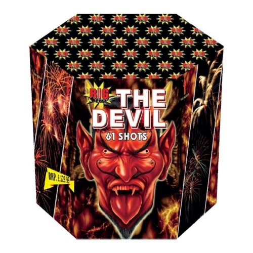 The Devil fireworks barrage cake