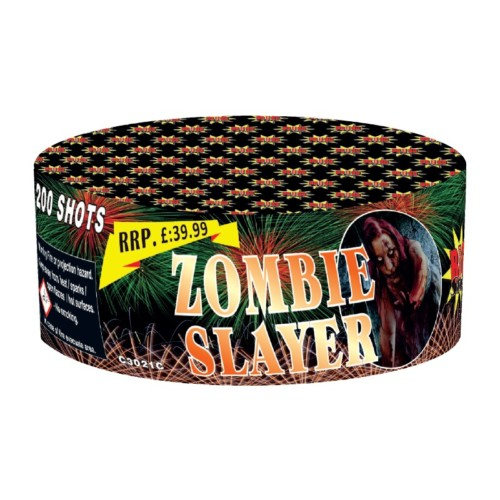 Zombie Slayer fireworks barrage cake