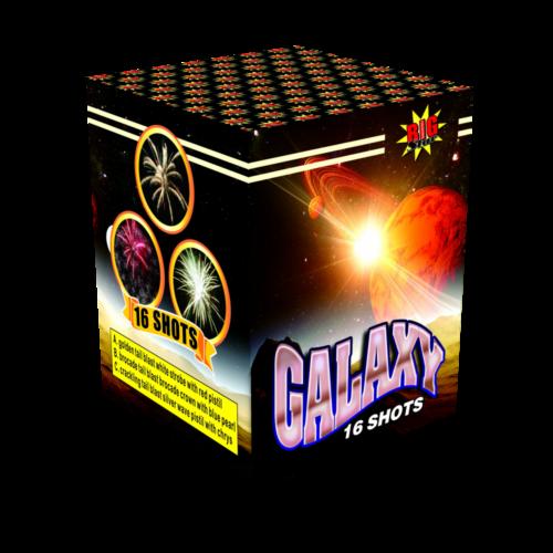 Galaxy cake fireworks