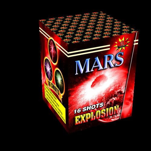 Mars cake fireworks