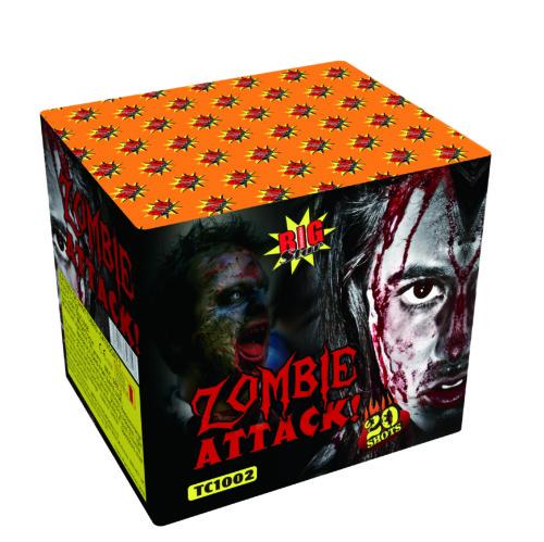 Zombie Attack cake fireworks