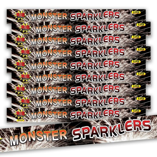 Monster crackling sparkler bundle